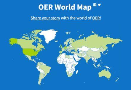 Mapa mundial de los REA